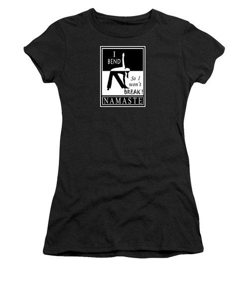 Yoga - Bend So You Won't Break Women's T-Shirt (Junior Cut) by Vagabond Folk Art - Virginia Vivier
