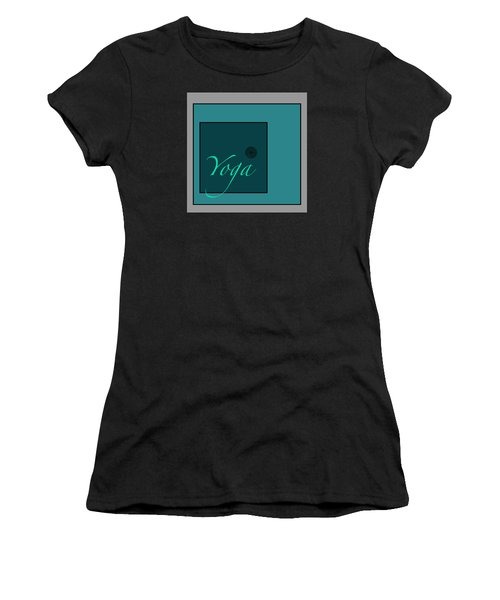 Yoga In Blue Women's T-Shirt (Athletic Fit)