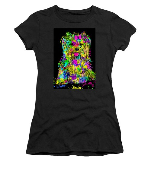 Yorkie Beauty Women's T-Shirt (Junior Cut) by Zaira Dzhaubaeva