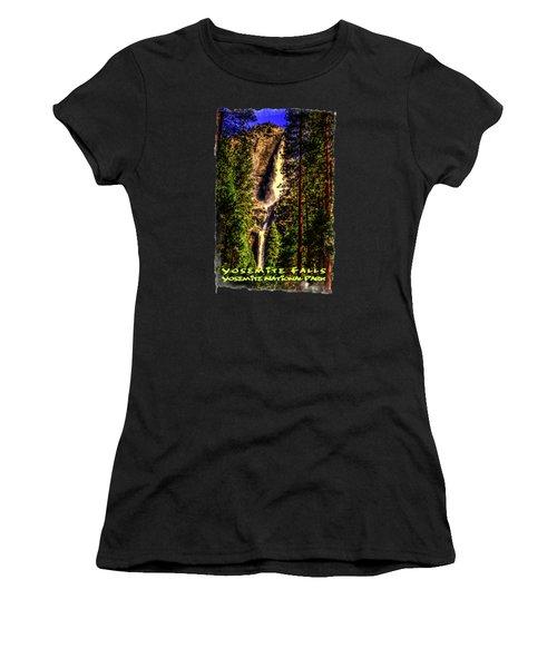 Yosemite Falls Framed By Ponderosa Pines Women's T-Shirt (Athletic Fit)