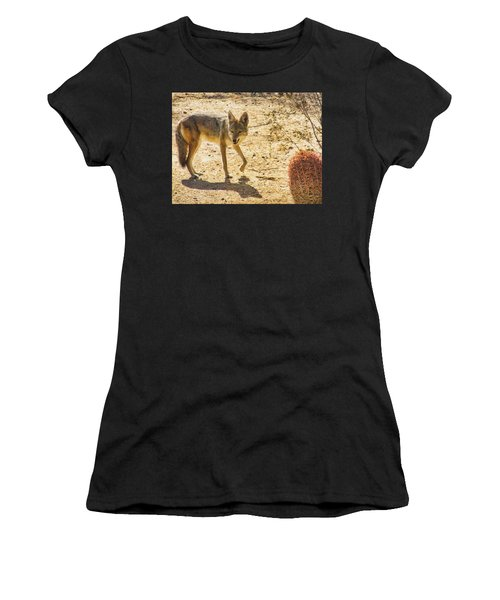 Young Coyote And Cactus Women's T-Shirt (Athletic Fit)