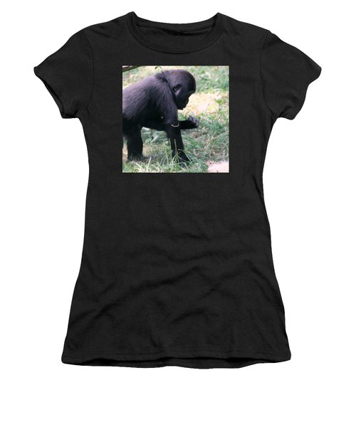 Young Gorilla Women's T-Shirt (Athletic Fit)
