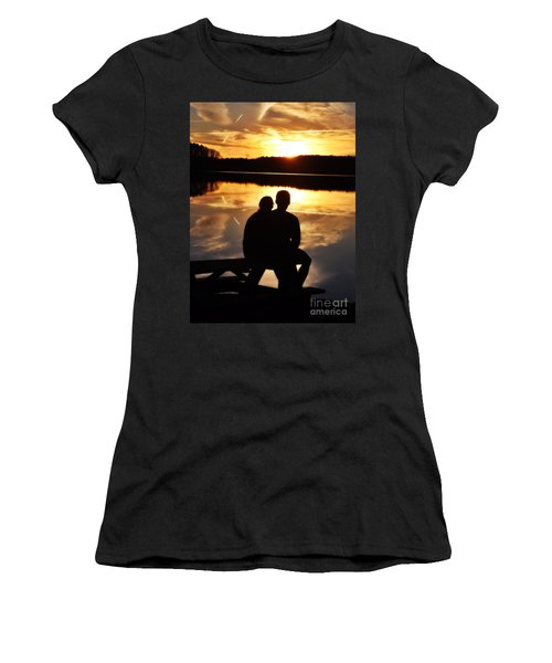 Young Love And Sunsets Women's T-Shirt (Athletic Fit)