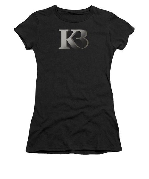 Your Name - K B Monogram 2 Women's T-Shirt (Athletic Fit)