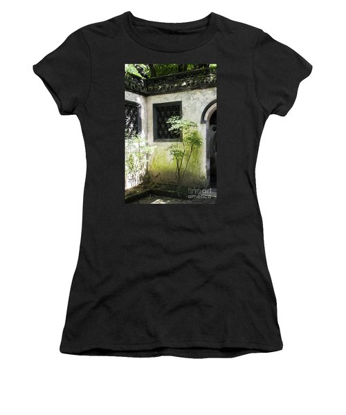 Women's T-Shirt (Athletic Fit) featuring the photograph Yuan Garden by Angela DeFrias