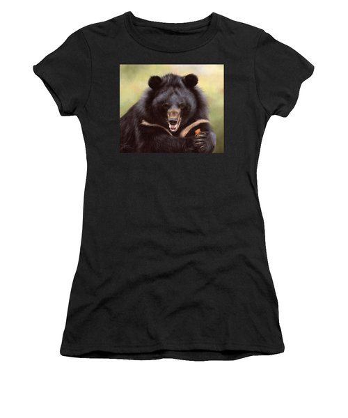 Zebedee Moon Bear - In Support Of Animals Asia Women's T-Shirt (Athletic Fit)
