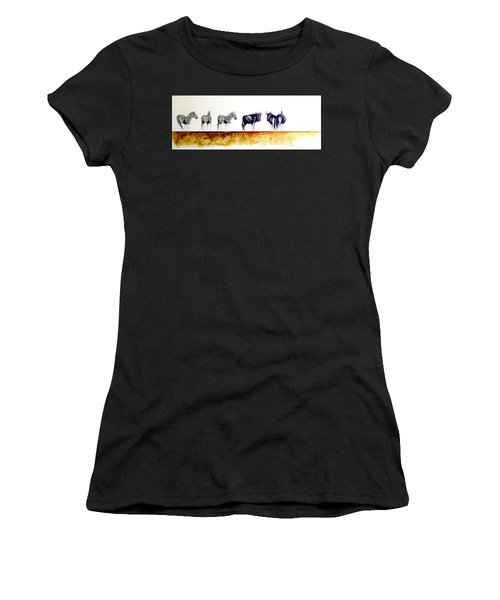 Zebra And Wildebeest Women's T-Shirt