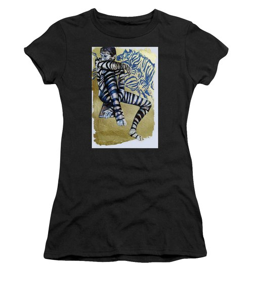 Zebra Boy The Lost Gold Drawing  Women's T-Shirt