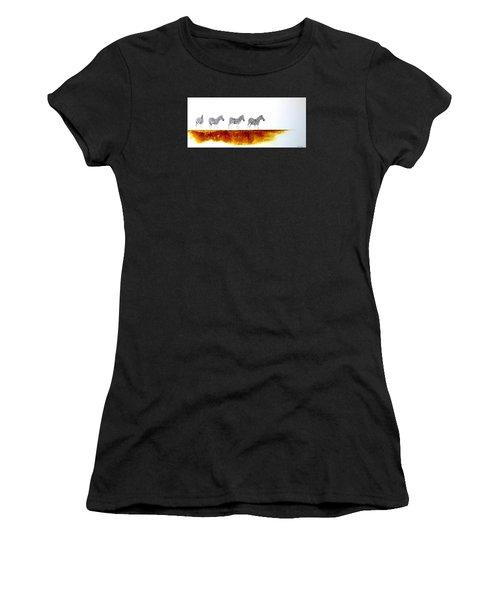Zebra Landscape - Original Artwork Women's T-Shirt
