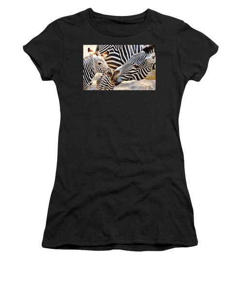 Zebra Mother And Calf Women's T-Shirt (Athletic Fit)