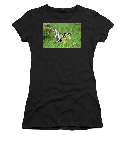 Zebra Swallowtail And Ladybug Women's T-Shirt (Athletic Fit)