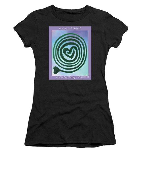 Zen Heart Labyrinth Sky Women's T-Shirt (Athletic Fit)