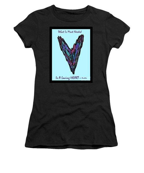 Zen Hearts In Betweens Women's T-Shirt (Athletic Fit)