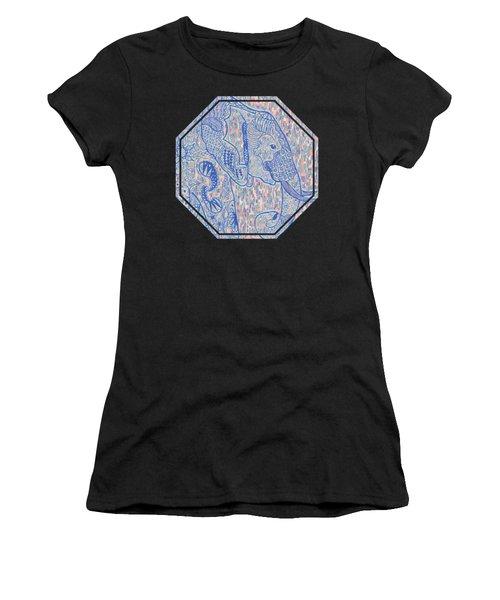 Zentangle Elephant-oil Women's T-Shirt