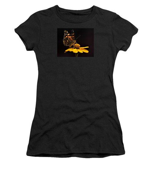 Zinnia Sipping Women's T-Shirt (Junior Cut) by Alana Thrower