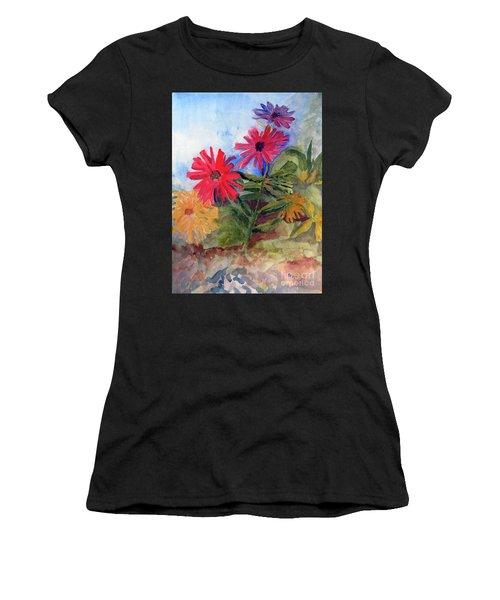 Zinnias In The Garden Women's T-Shirt