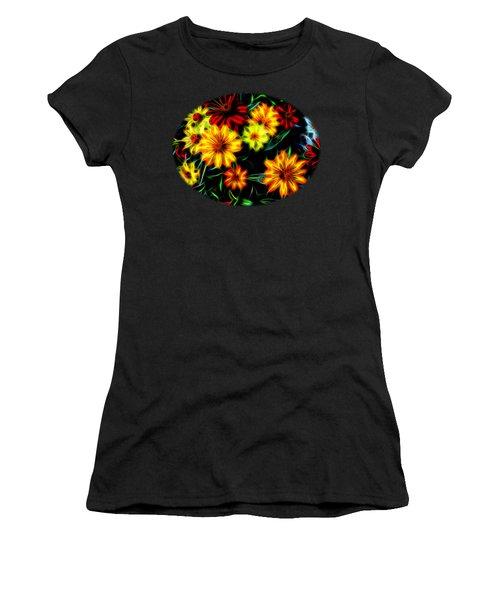 Zinnias With Zest Women's T-Shirt (Junior Cut) by Nick Kloepping