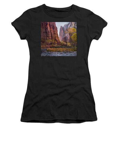 Women's T-Shirt featuring the photograph Zion Canyon by James Woody