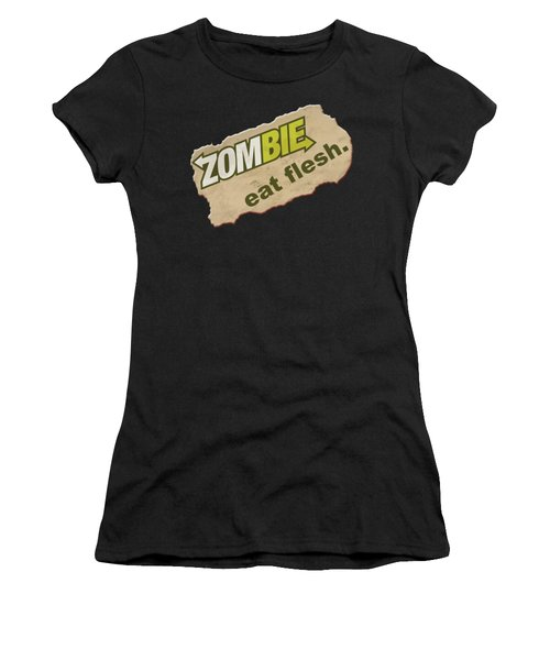 Zombie - Eat Flesh Women's T-Shirt (Athletic Fit)