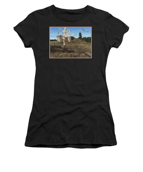 Zombie Near The Ruins Women's T-Shirt (Athletic Fit)