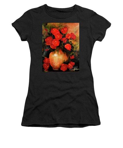 Antique Red Roses Women's T-Shirt