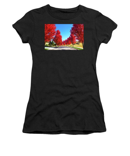 Fall In Boise Women's T-Shirt (Athletic Fit)