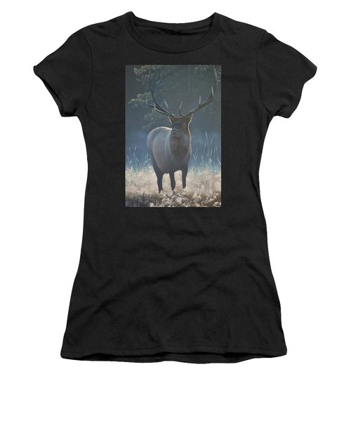 First Light - Bull Elk Women's T-Shirt