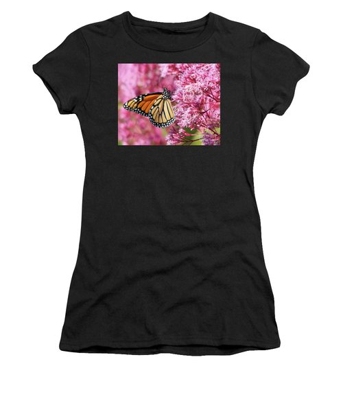 Women's T-Shirt featuring the photograph Monarch Butterfly by Debbie Stahre