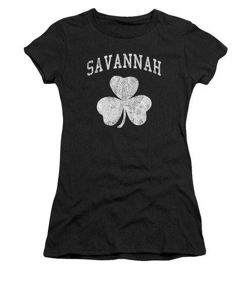 Savannah Georgia Irish Shamrock Women's T-Shirt