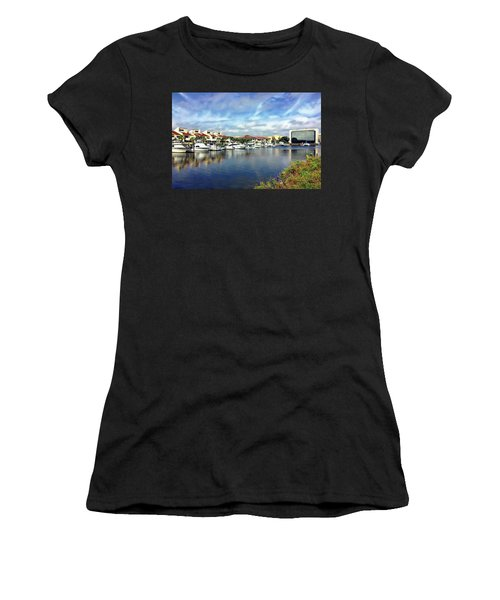 Women's T-Shirt (Athletic Fit) featuring the photograph Pensacola Bay by Anthony Dezenzio