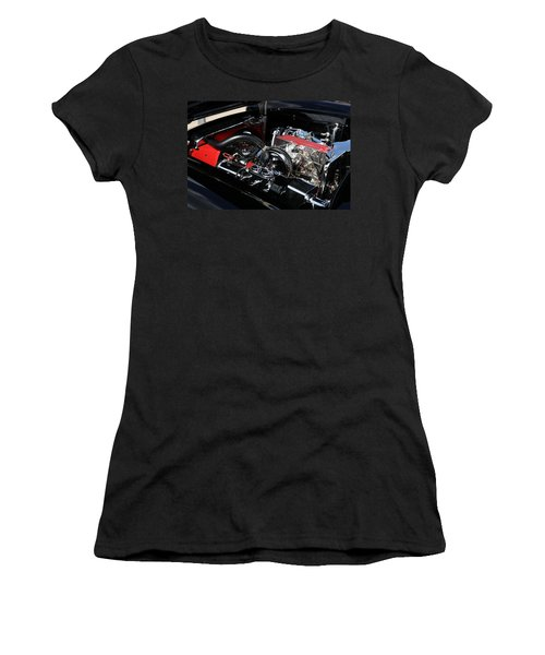 Women's T-Shirt featuring the photograph 1957 Chevrolet Corvette Engine by Debi Dalio