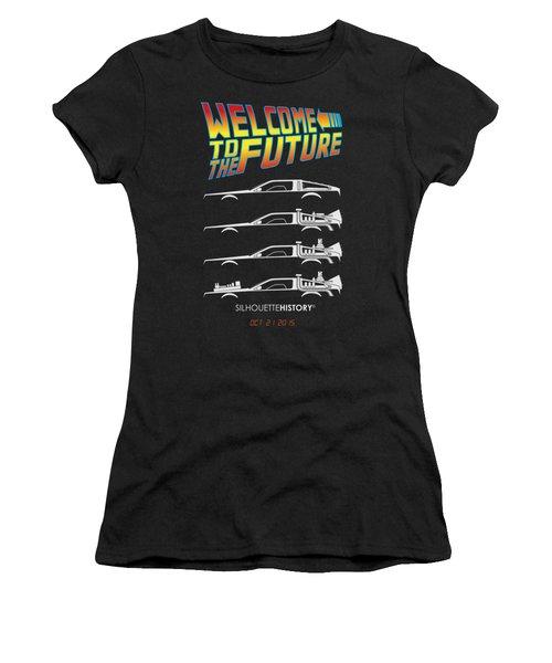 Time Machine Silhouettehistory Women's T-Shirt