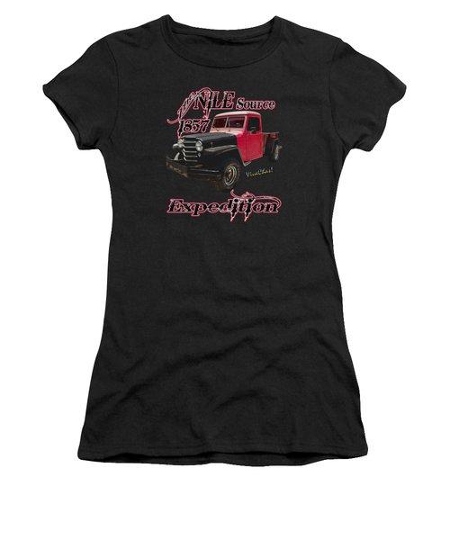 51 Willys Jeep 4x4 Pickup Ridge Running Before Dark Women's T-Shirt