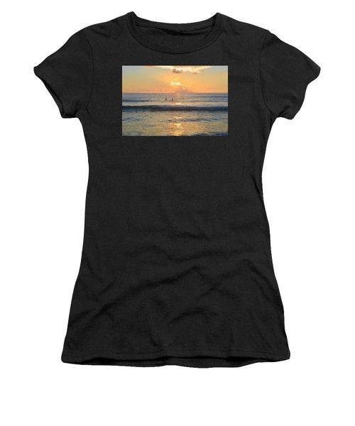 Women's T-Shirt featuring the photograph 9/3/18 Kitty Hawk Sunrise by Barbara Ann Bell