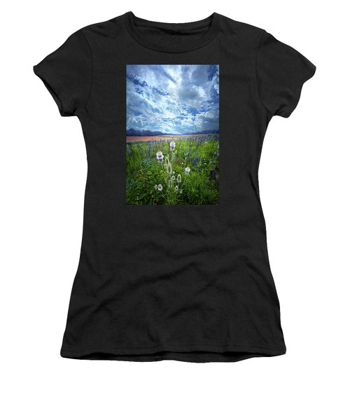 Women's T-Shirt featuring the photograph A Chance Of Rain by Phil Koch
