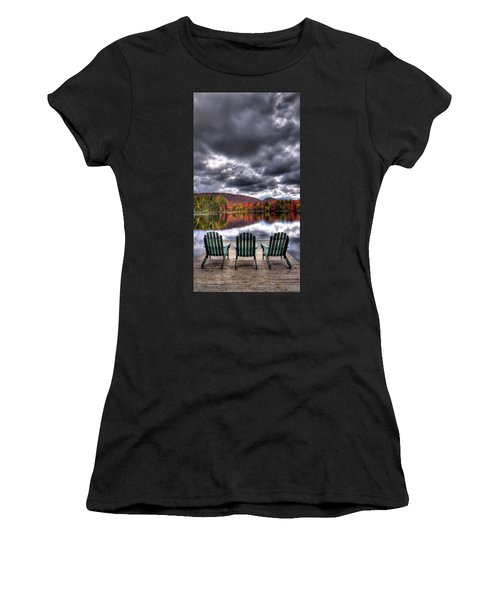 Women's T-Shirt featuring the photograph A Fall Day On West Lake by David Patterson