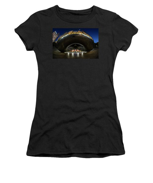 A Fisheye Perspective Of Chicago's Bean Women's T-Shirt