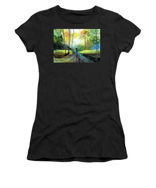 A Walk In The Rain Women's T-Shirt