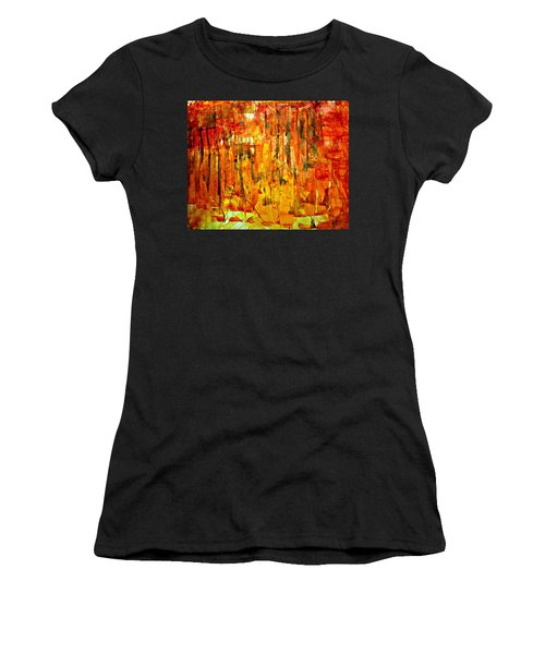 Women's T-Shirt featuring the painting Ablaze by 'REA' Gallery