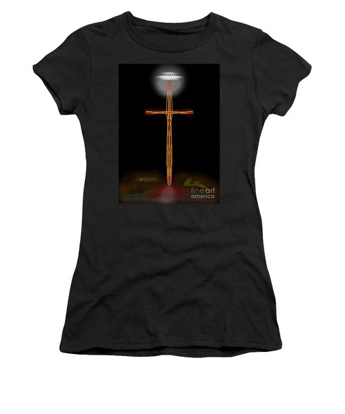 Abstract Cross With Halo Women's T-Shirt