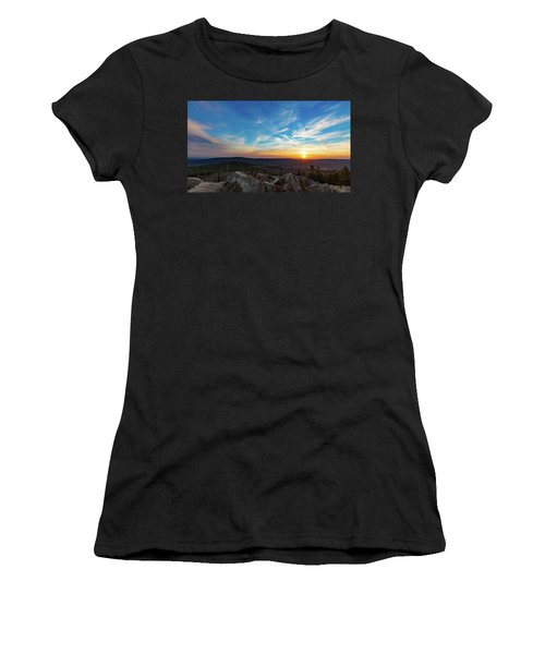 Women's T-Shirt featuring the photograph Achtermann Sunset, Harz by Andreas Levi