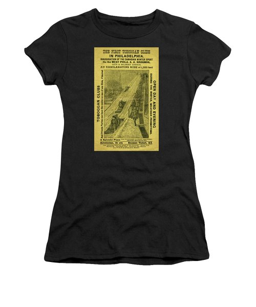 Advertisement For The First Toboggan Slide In Philadelphia Women's T-Shirt