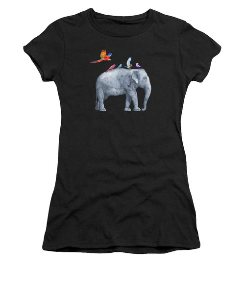 All Aboard The Exotic Elephant Taxi Service Women's T-Shirt