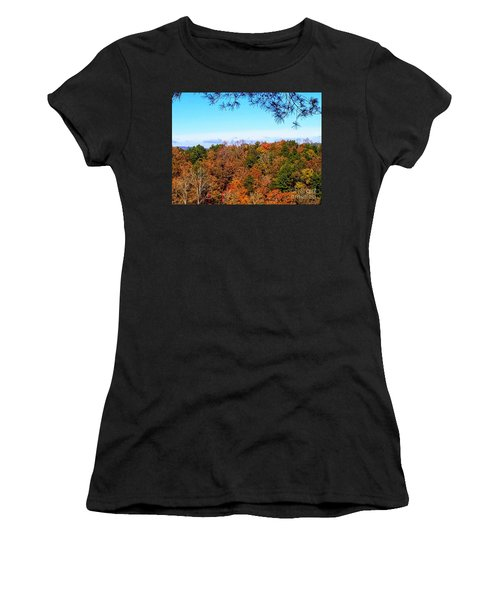 Women's T-Shirt (Athletic Fit) featuring the photograph All The Colors Of Fall by Rachel Hannah