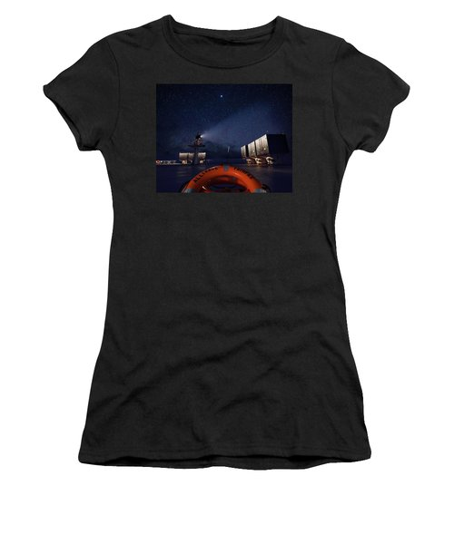 Women's T-Shirt featuring the photograph Alliance Fairfax Starry Night by William Dickman