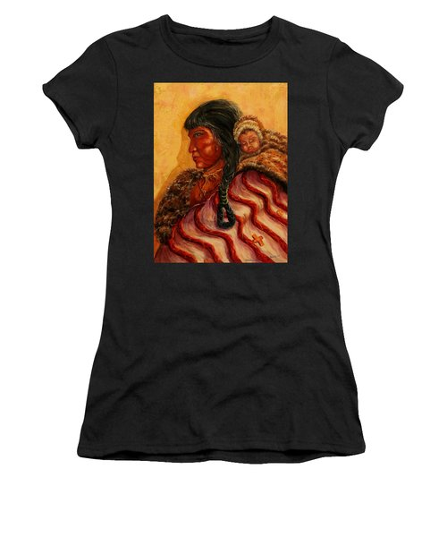American Indian Mother And Child Women's T-Shirt