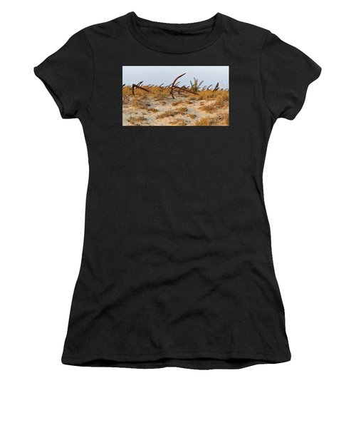 Anchors In Barril Beach Women's T-Shirt
