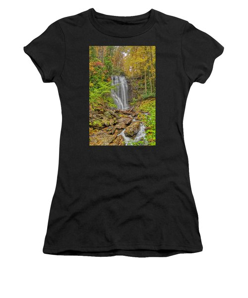 Women's T-Shirt (Athletic Fit) featuring the photograph Anna Ruby Falls Left by Meta Gatschenberger