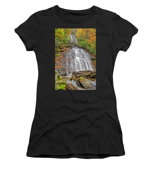 Women's T-Shirt (Athletic Fit) featuring the photograph Anna Ruby Falls Right by Meta Gatschenberger