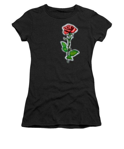 Single Red Rose Women's T-Shirt